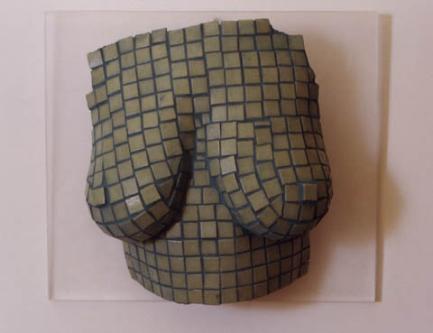 The Bust Project: Green Tile by Toby Hilden